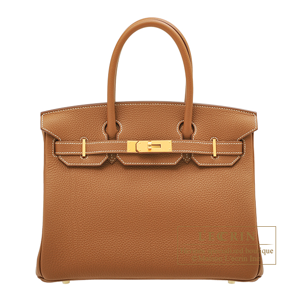 Hermes Birkin bag 30 Gold Togo leather Gold hardware