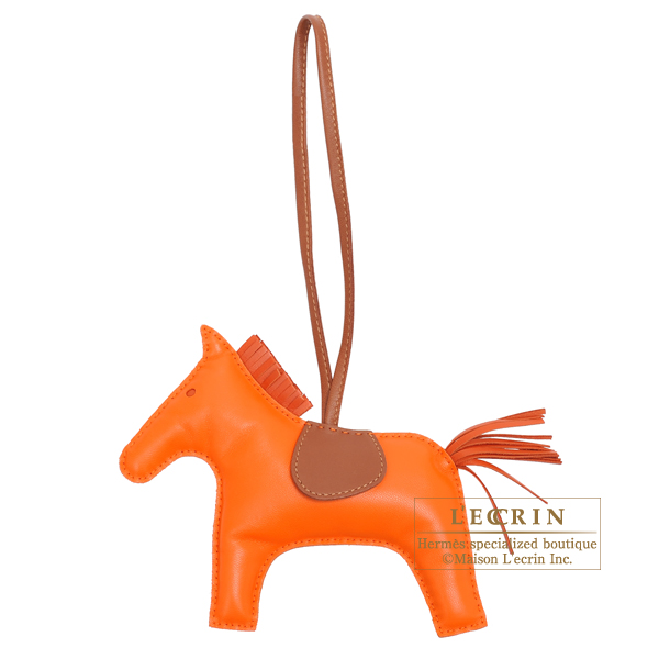 Hermes Rodeo charm GM Orange/Brique Agneau