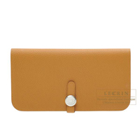 Hermes Dogon Long Caramel Togo leather Silver hardware
