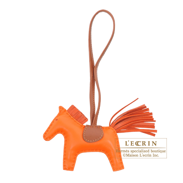 Hermes Rodeo charm PM Orange/Brique Agneau