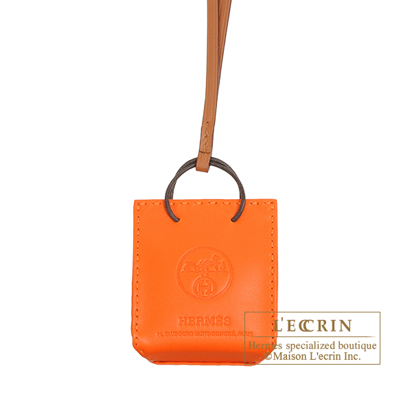 Hermes Sac orange Feu/Gold Agneau/Swift leather