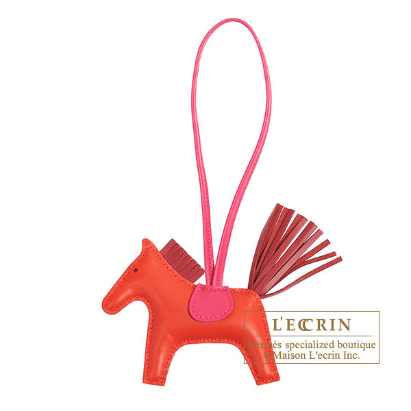 Hermes Rodeo charm PM Rouge indien/ Ruby Agneau