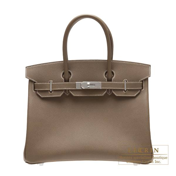 Hermes Birkin Bag 30 Etoupe Grey Epsom