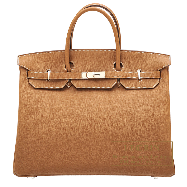 Hermes Birkin bag 40 Gold Togo leather Silver hardware