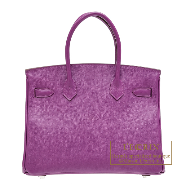 Hermes Birkin bag 30 Anemone Epsom leather Silver hardware