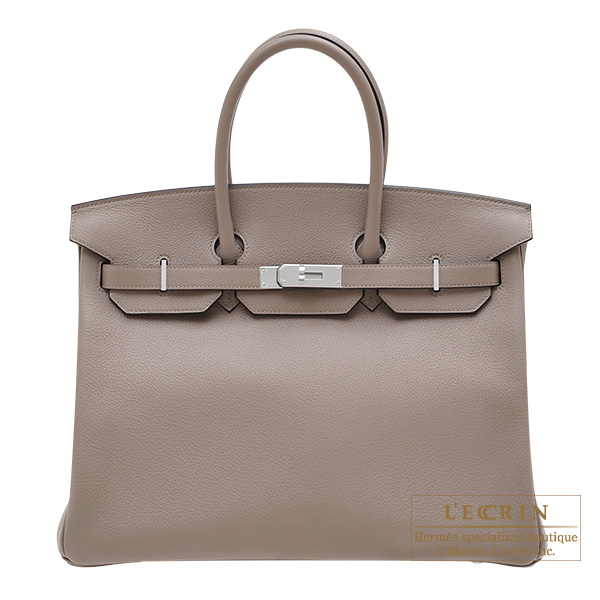 Hermes Birkin bag 35 Gris asphalt Novillo leather Silver hardware