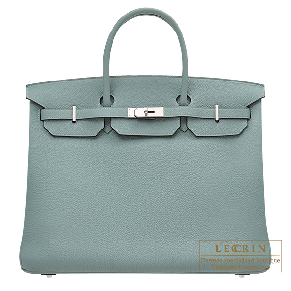 Hermes Birkin bag 40 Ciel Togo leather Silver hardware