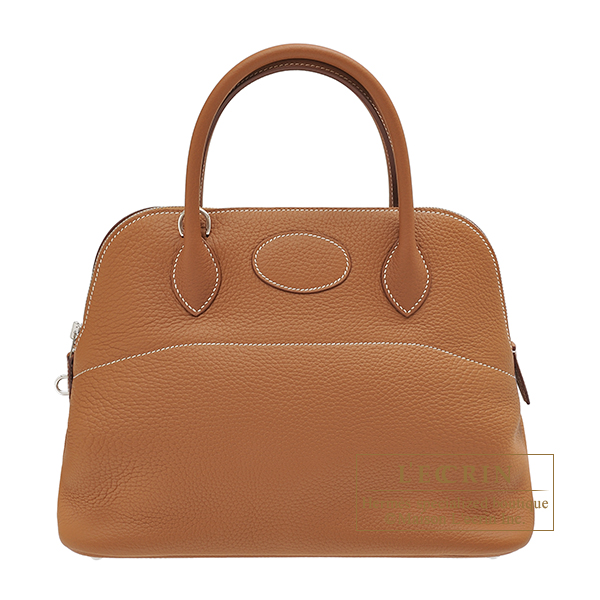 Hermes Bolide bag 31 Gold Clemence leather Silver hardware