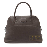 Hermes Bolide bag 31 Cafe Clemence leather Silver hardware