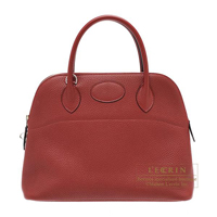 Hermes Bolide bag 31 Rouge H Clemence leather Silver hardware