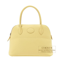 Hermes Bolide bag 27 Jaune Poussin Epsom leather Silver hardware