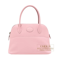 Hermes Bolide bag 27 Rose sakura Swift leather Silver hardware
