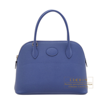 Hermes Bolide bag 27 Blue brighton Epsom leather Silver hardware