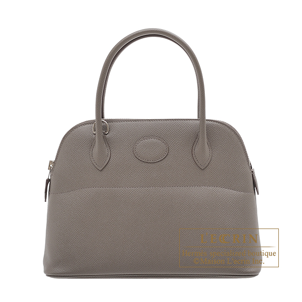 Hermes Bolide bag 27 Etain Epsom leather Silver hardware