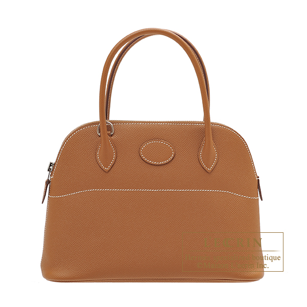 Hermes Bolide bag 27 Gold Epsom leather Silver hardware