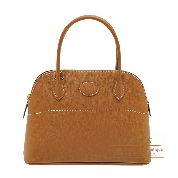 Hermes Bolide bag 27 Gold Epsom leather Gold hardware