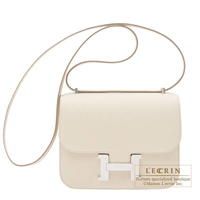 Hermes Constance mini Craie Epsom leather Silver hardware