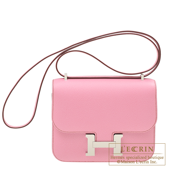 Hermes Constance mini Pink Epsom leather Silver hardware