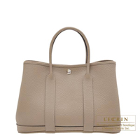 Hermes Garden Party bag TPM Gris tourterelle Country leather Silver hardware