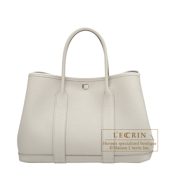 Hermes Garden Party bag TPM Beton Negonda leather Silver hardware