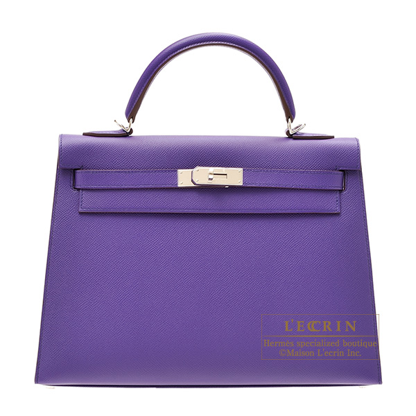 Hermes Kelly bag 32 Sellier Crocus Epsom leather Silver hardware