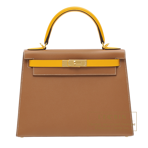 Hermes Personal Kelly bag 28 Sellier Gold/ Jaune d'or Epsom leather Gold hardware