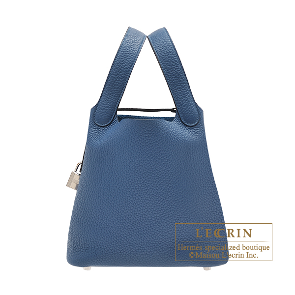 Hermes Picotin Lock bag PM Deep blue Maurice leather Silver hardware