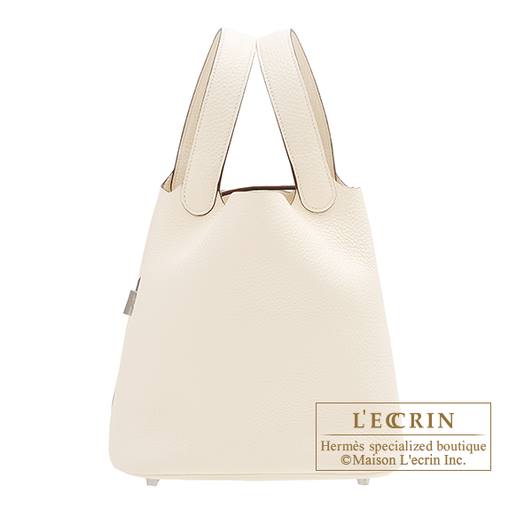 Hermes Picotin Lock bag MM Nata Clemence leather Silver hardware