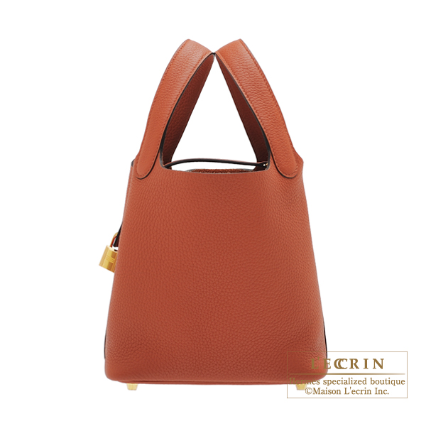 Hermes Picotin Lock bag PM Cuivre Clemence leather Gold hardware
