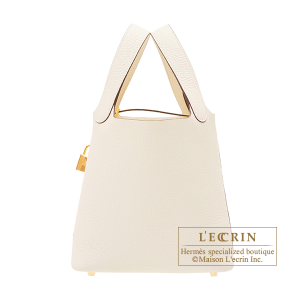 Hermes Picotin Lock bag PM Nata Clemence leather Gold hardware