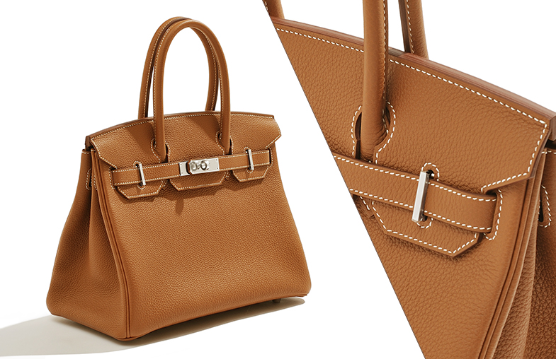 """White stitching"" that distinguished the Hermès Gold"